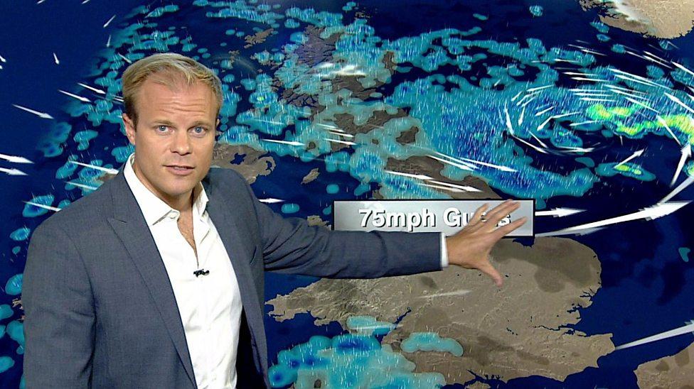 Storm Aileen heading towards the UK