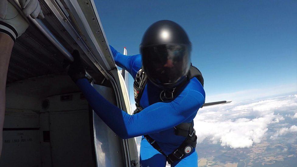 Daredevil Max Hurd jumps from plane