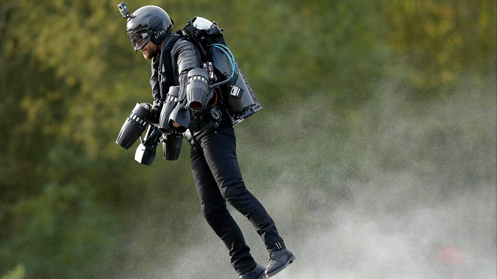 Check out this real-life flying Iron Man!