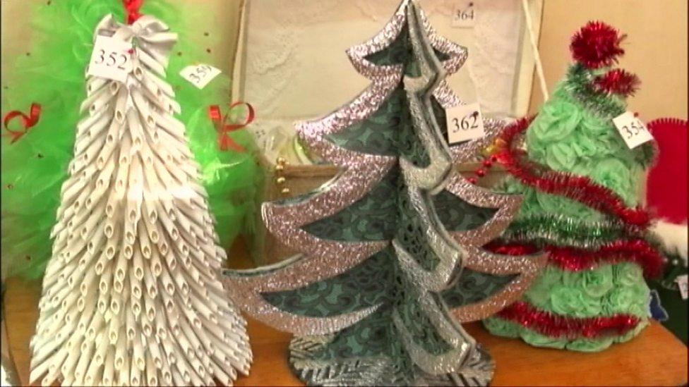 Alternative Christmas Trees.The Alternative Christmas Trees Made By Children Cbbc
