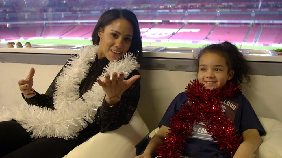 114df07b22c Arsenal s Alex Scott sees how Gunners are helping disabled fans ...