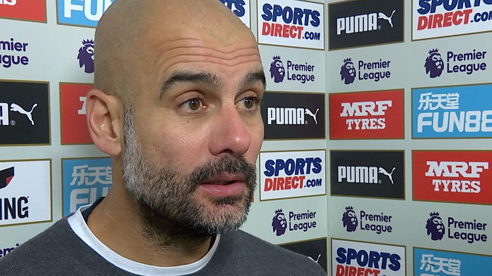Image result for Newcastle didn't want to play - Guardiola