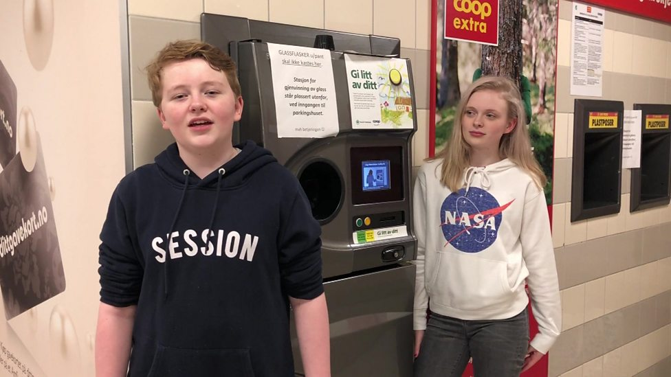 How kids in Norway recycle plastic bottles