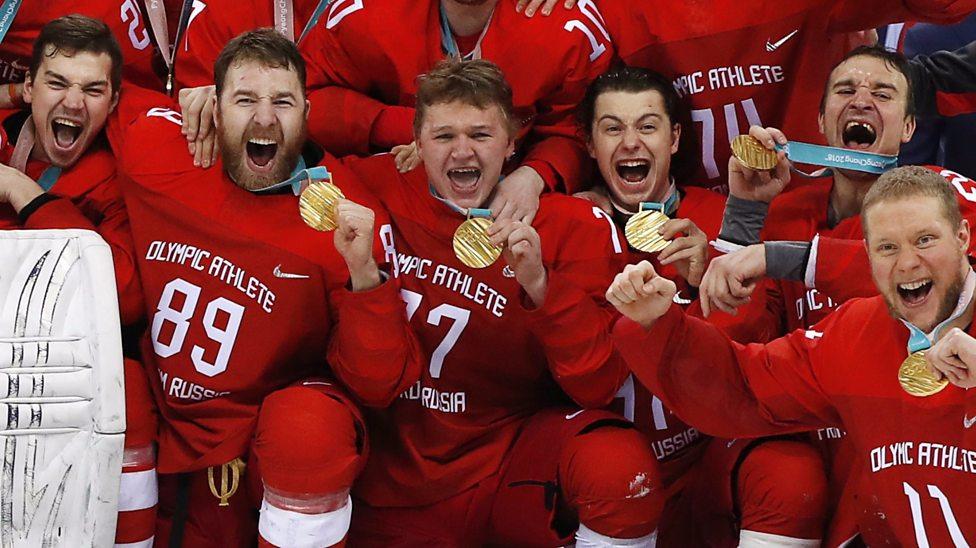 Znalezione obrazy dla zapytania pyeongchang 2018 ice hockey gold medal oar germany kirill kaprizov