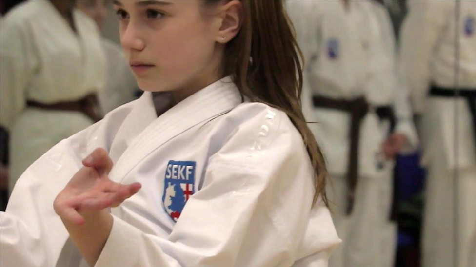 The golden karate girl with Olympic dreams