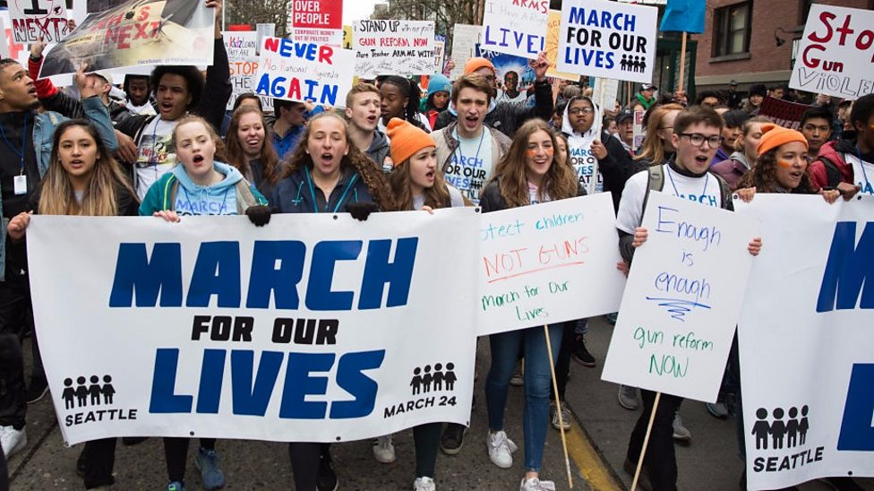 Children take part in the March For Our Lives