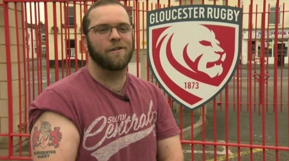 Gloucester Rugby reveal new logo and offer to replace fans' old tattoos - BBC Sport - 웹