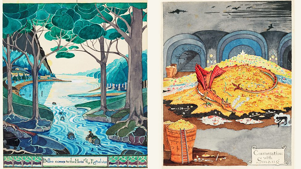 New exhibition of JRR Tolkien's art in Oxford P068q15p