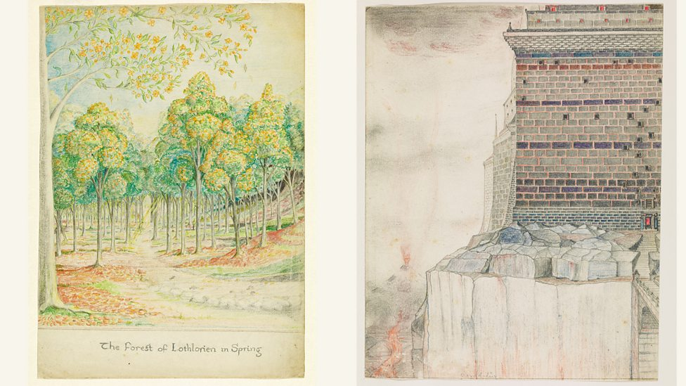 New exhibition of JRR Tolkien's art in Oxford P068q2rz