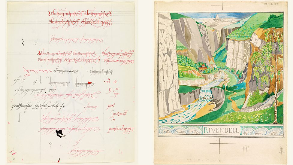 New exhibition of JRR Tolkien's art in Oxford P068q6lb