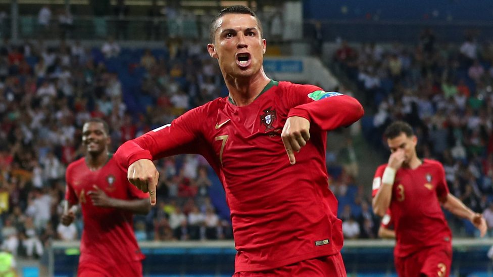 World Cup 2018 Cristiano Ronaldo S Free Kick Pulls Portugal Level Against Spain Bbc Sport