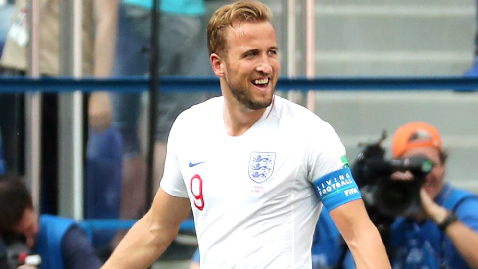 World Cup 2018  Harry Kane seals his hat-trick to put England 6-0 up ... b6be48e1db2