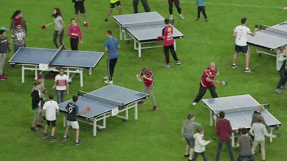 German kids set table tennis world records