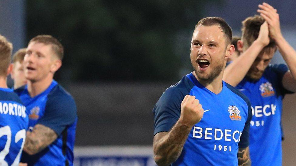 glenavon upset solskjaer s molde fk in europa league qualifier bbc