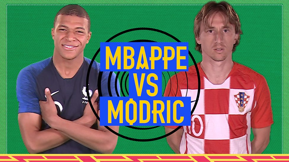 sports shoes 2bce9 a6574 World Cup 2018: Kylian Mbappe v Luka Modric - Two World Cup stars go  head-to-head in final