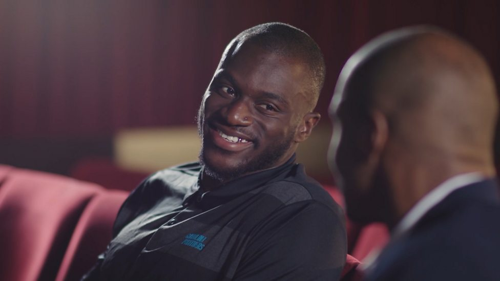 super popular 5be96 a2dd6 NFL Show: Efe Obada talks to Osi Umenyiora about taking his chance with the  Carolina Panthers
