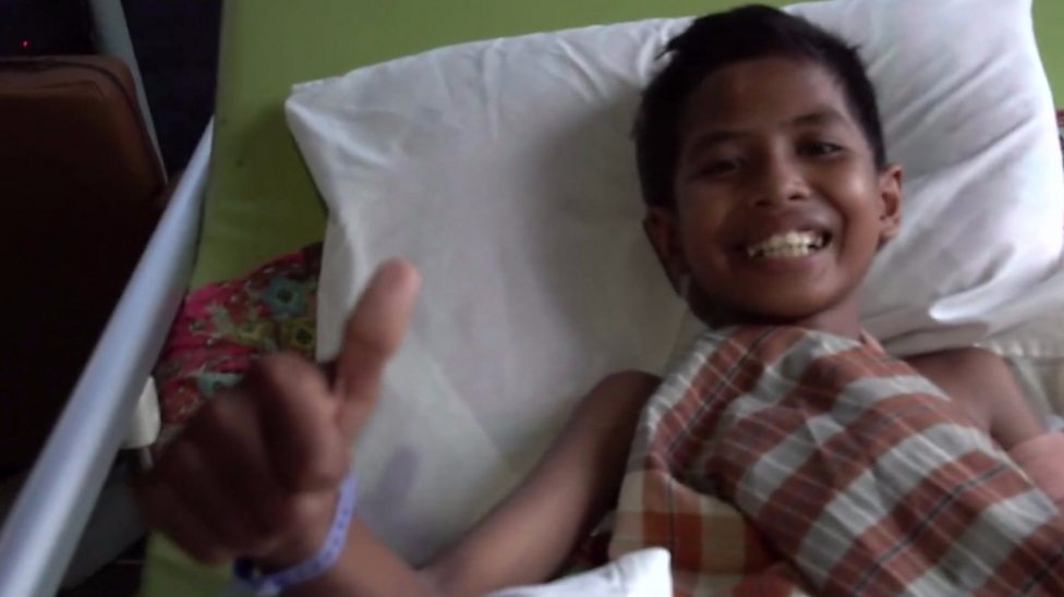 Man City footballer sends get well message to boy in Indonesia