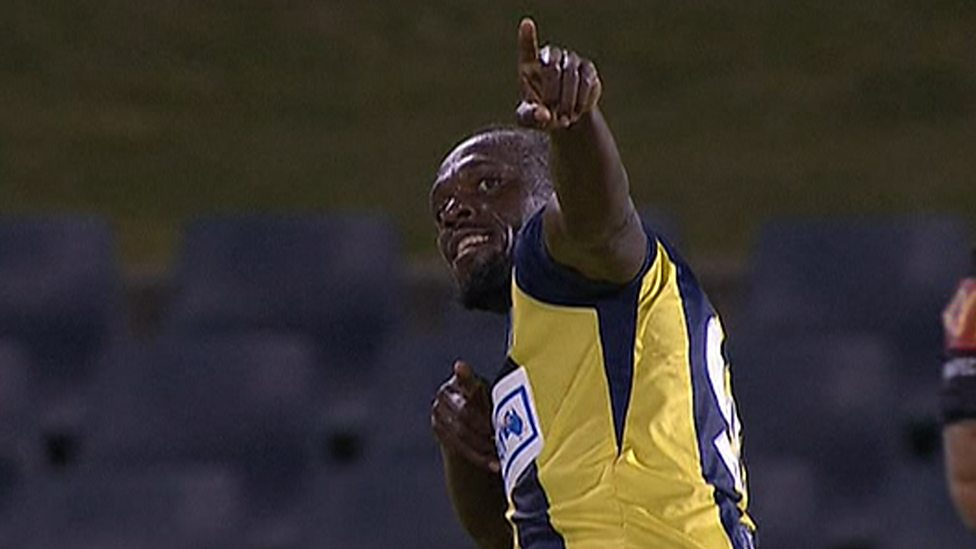 11ea287a6 Usain Bolt scores two goals for Central Coast Mariners - BBC Sport