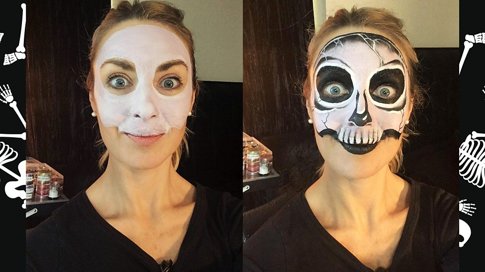 How to do a simple skeleton face for Halloween