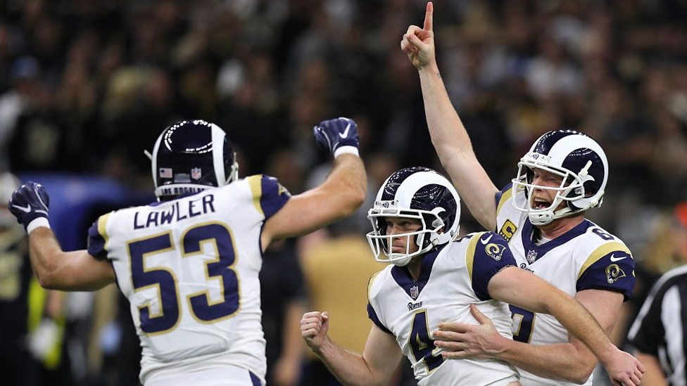 e1aabe57752 Super Bowl  Los Angeles Rams beat New Orleans Saints to NFC title ...