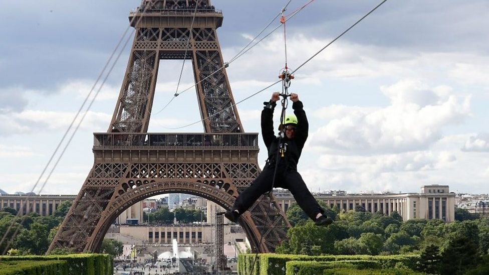 The Eiffel Tower has a zip wire!