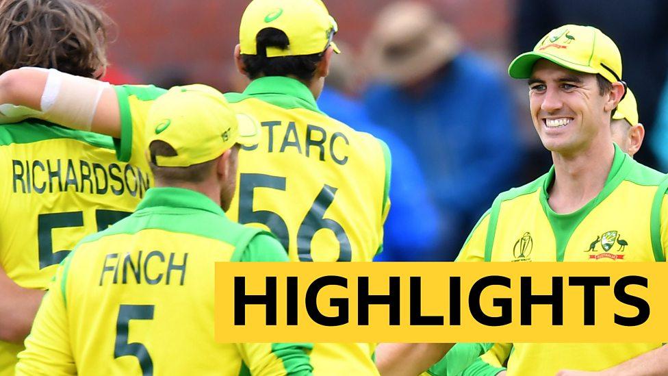 Cricket World Cup Australia Beat Pakistan Highlights Bbc Sport