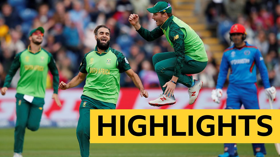 Cricket World Cup Highlights South Africa Beat Afghanistan For First Win Bbc Sport