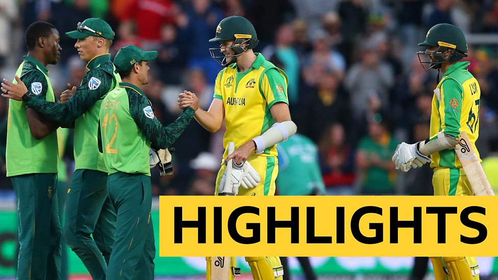 Cricket World Cup Highlights South Africa Claim Thrilling Win Over Australia Bbc Sport