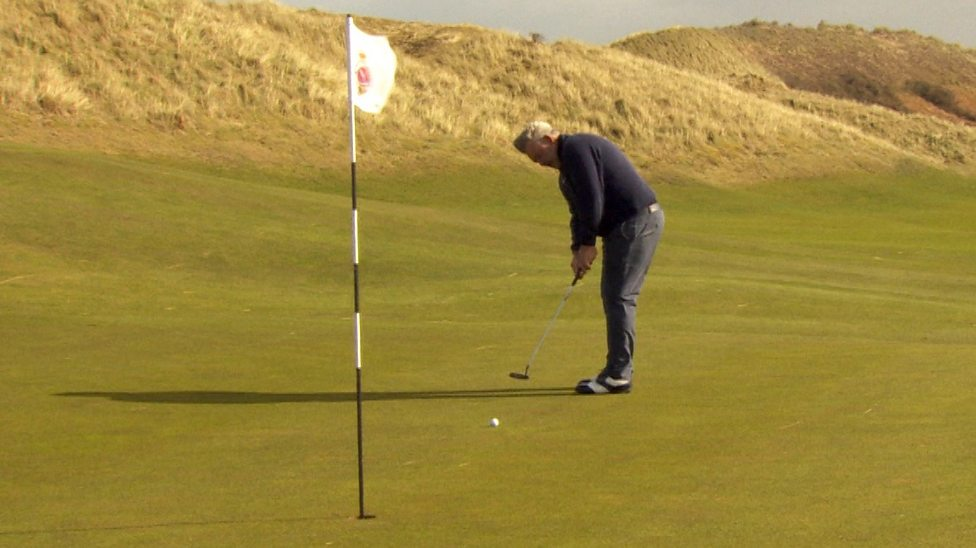 The Open 2019: Drone footage as former Open champion Darren Clarke plays  new seventh hole at Portrush