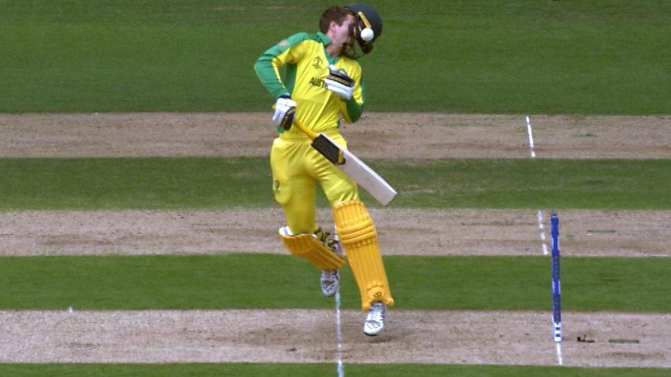 England V Australia World Cup Semi Final Jofra Archer S Bouncer Knocks Alex Carey S Helmet Off
