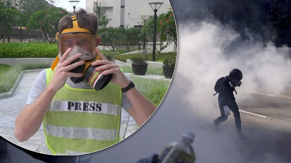 How reporters are staying safe in the Hong Kong protests