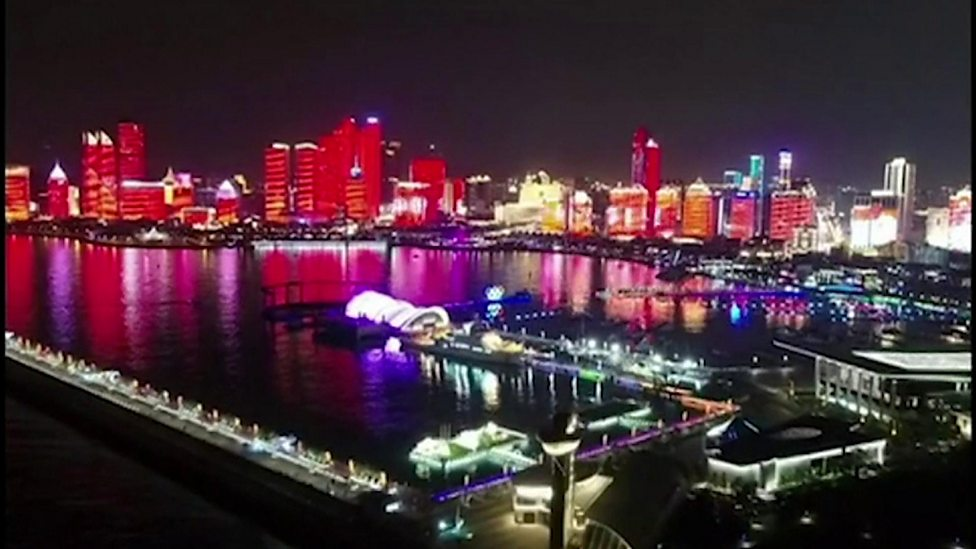 China lights up for 70th birthday celebrations