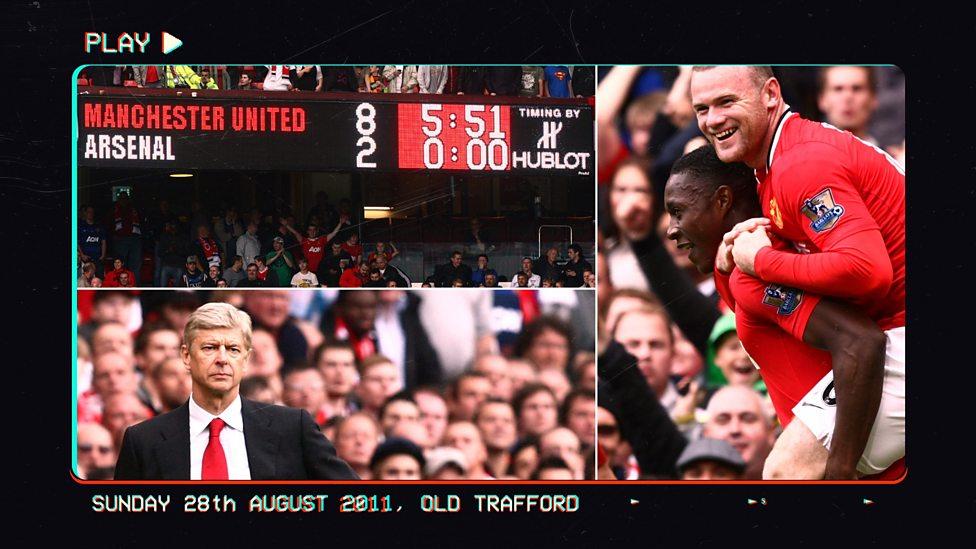Man Utd 8 2 Arsenal Things You Ve Probably Forgotten Bbc Sport