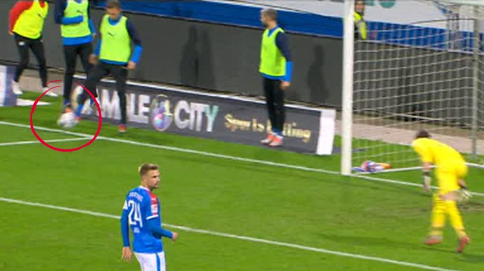 Holstein Kiel Substitute Concedes Penalty While Warming Up Agianst Vfl Bochum In Bundesliga 2 Bbc Sport