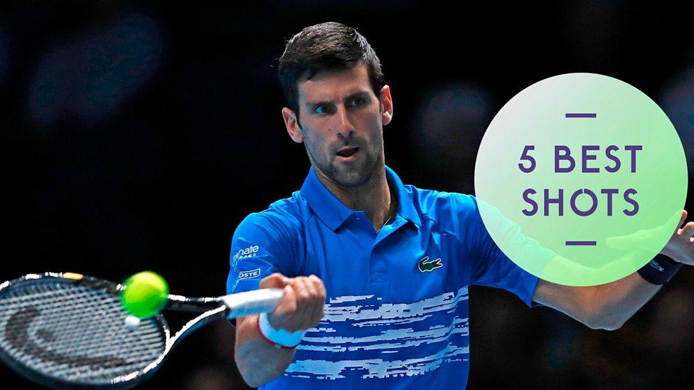 Atp Finals Watch Five Best Shots As Novak Djokovic Beats Matteo Berrettini In Opener Bbc Sport