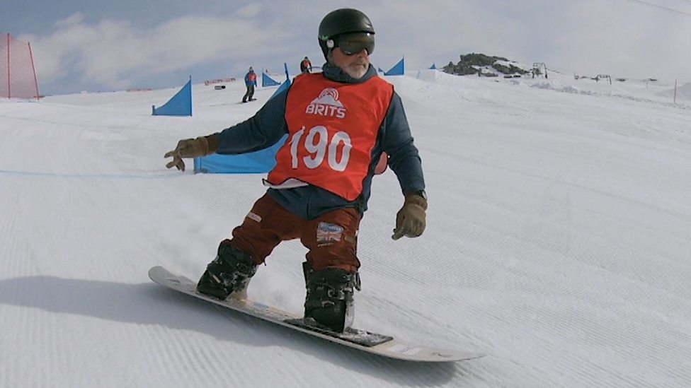 Darren Swift The Double Amputee Snowboarder Competing At The Brits Championships Bbc Sport