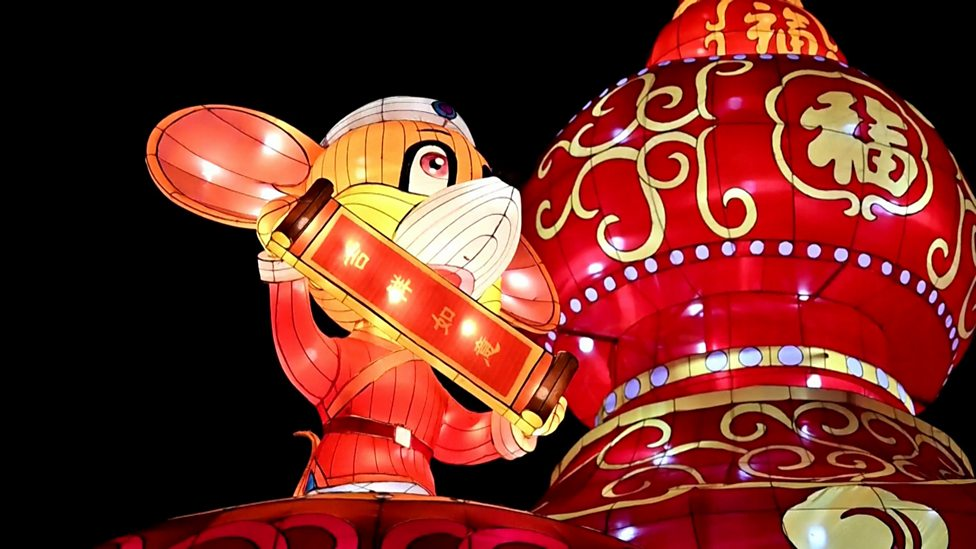 Colourful lights celebrate Chinese New Year