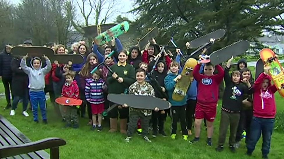 These kids are aiming to get their own skatepark built