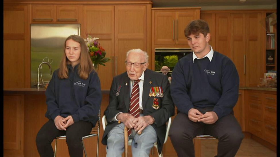 Captain Sir Tom Moore talks about his new book