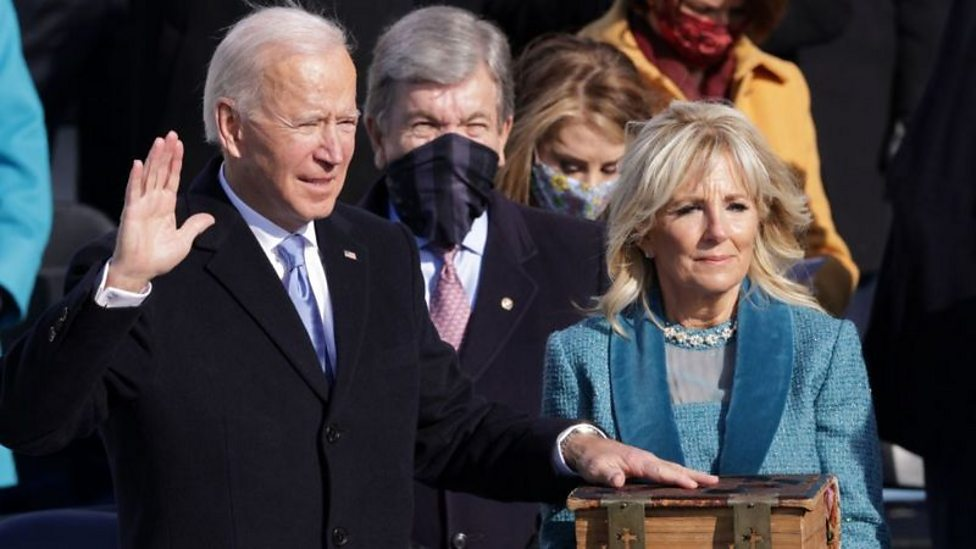 What happened at Joe Biden's inauguration?