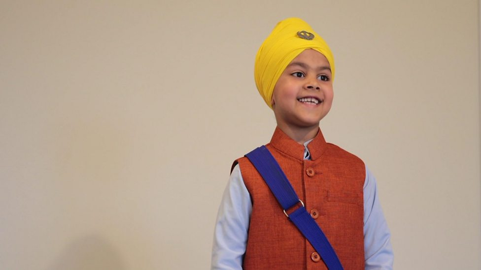 Sikh children celebrate Vaisakhi