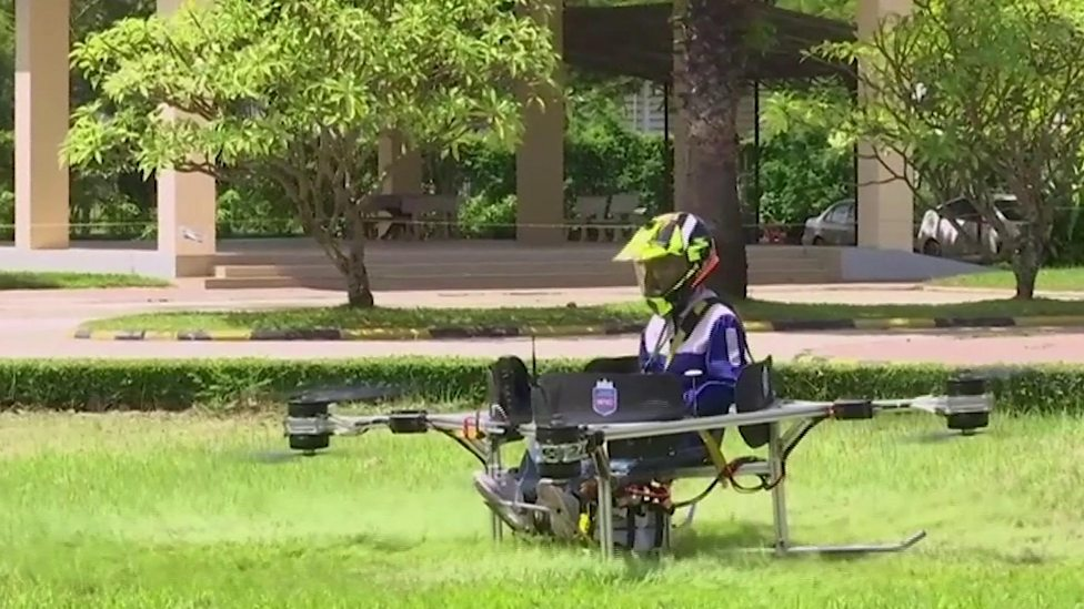 Check out the human-carrying drone!