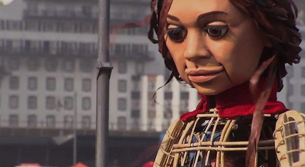 Meet the puppet raising awareness of child refugees