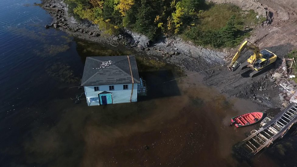 Check out the house that moved across the water!