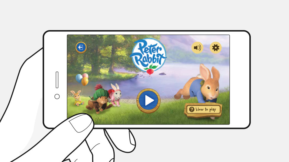 Peter Rabbit updated HTML 5 game with GEL skin.