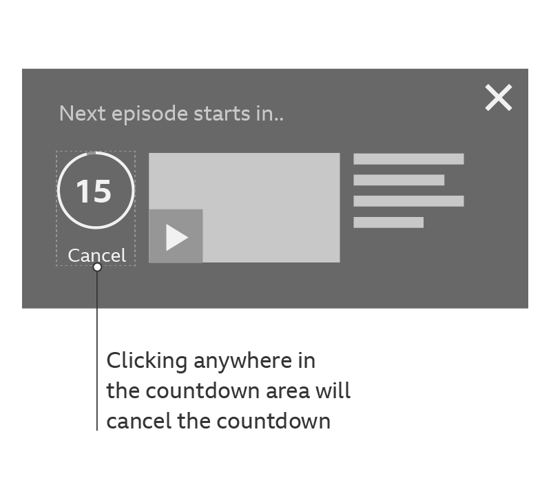 Example of how to cancel the countdown.