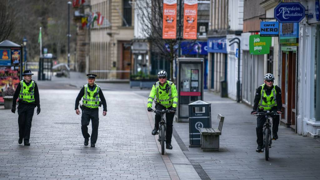 Police officers walking apart in Perth