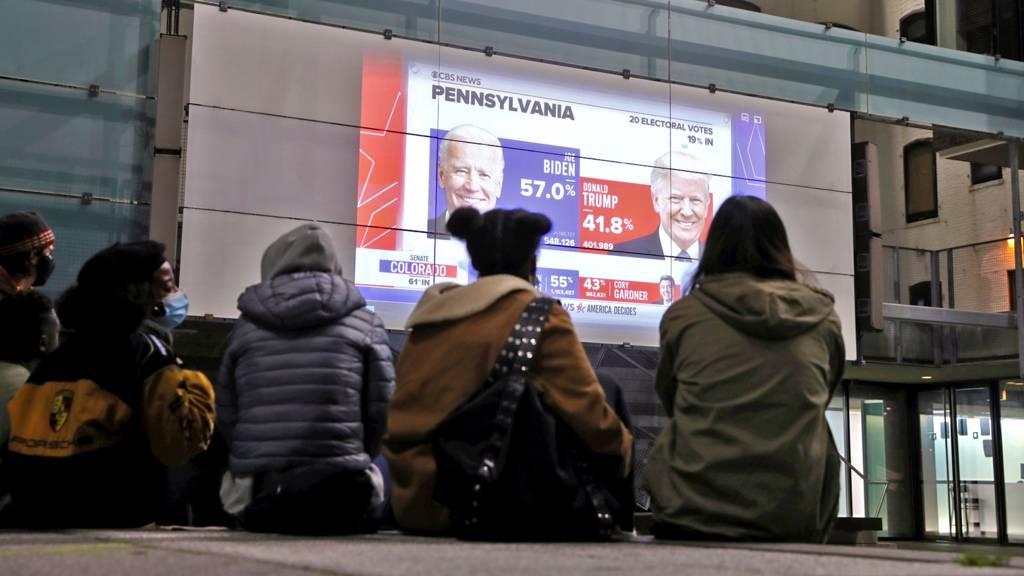 People watching screens in Pennsylvania