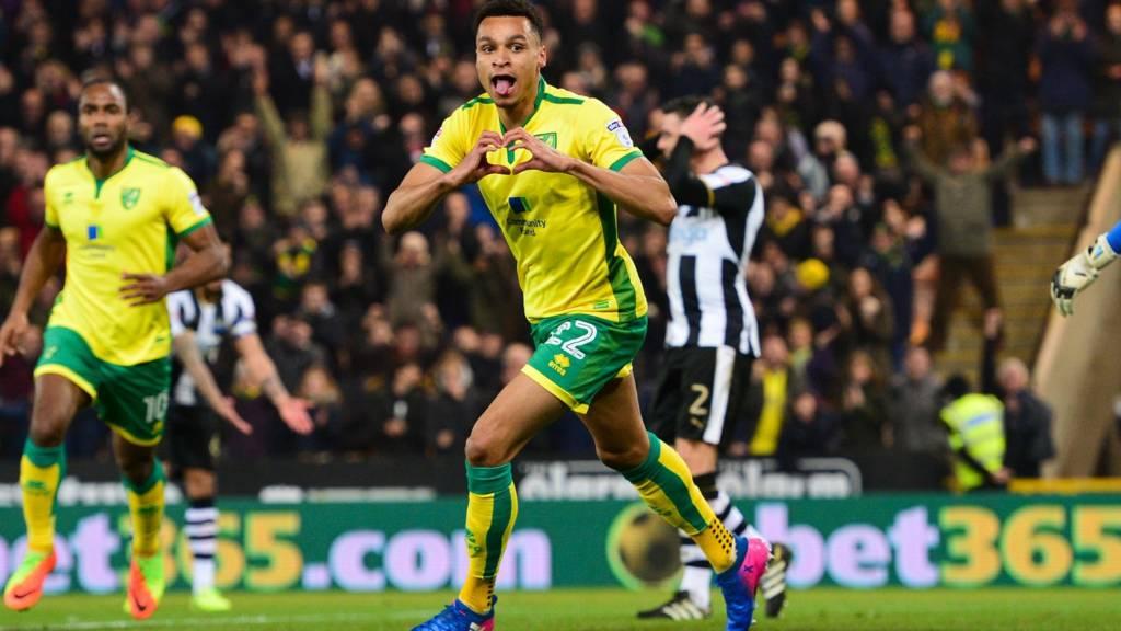 Jacob Murphy celebrates goal