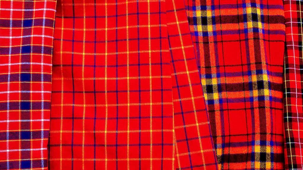 Maasai fabric in Kenya